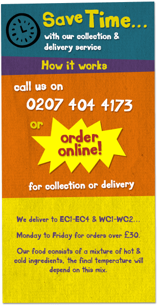 Save time with our delivery and collection service